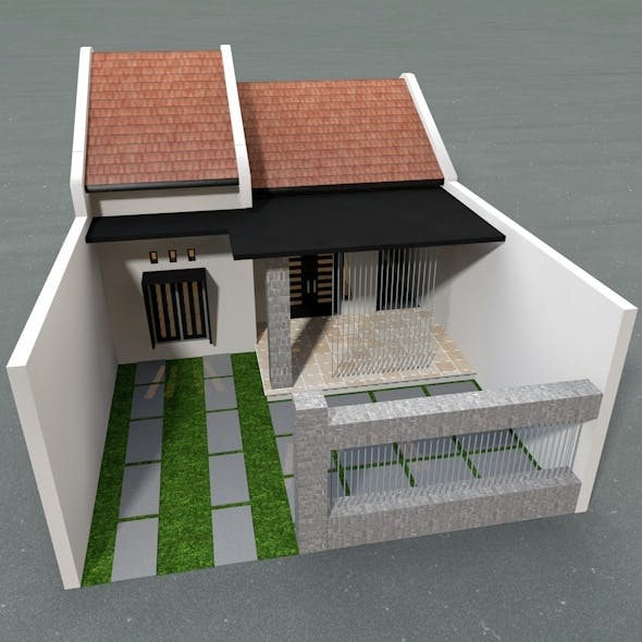 Simple Family House - 3DOcean Item for Sale