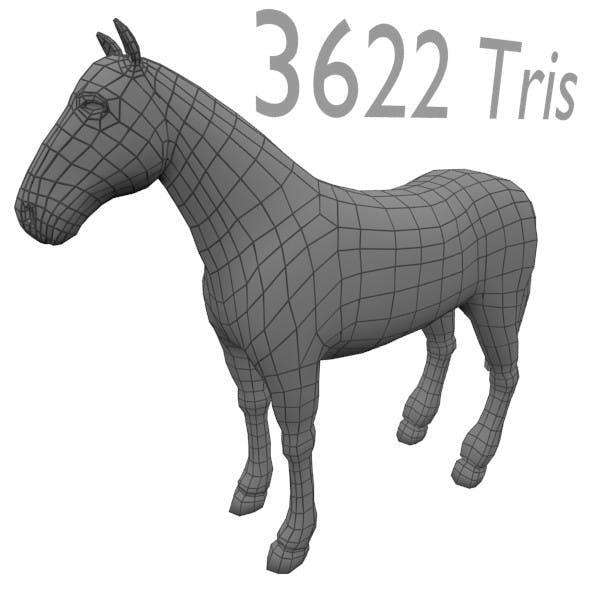 Med-Poly Horse Base Mesh - 3DOcean Item for Sale