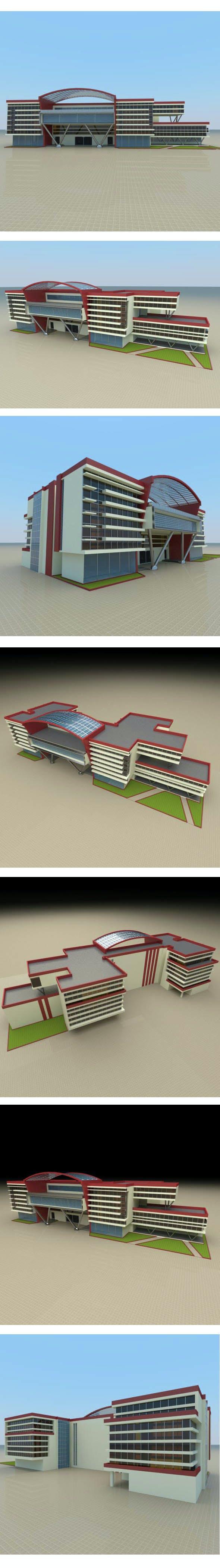 Modern Business Center - 3DOcean Item for Sale