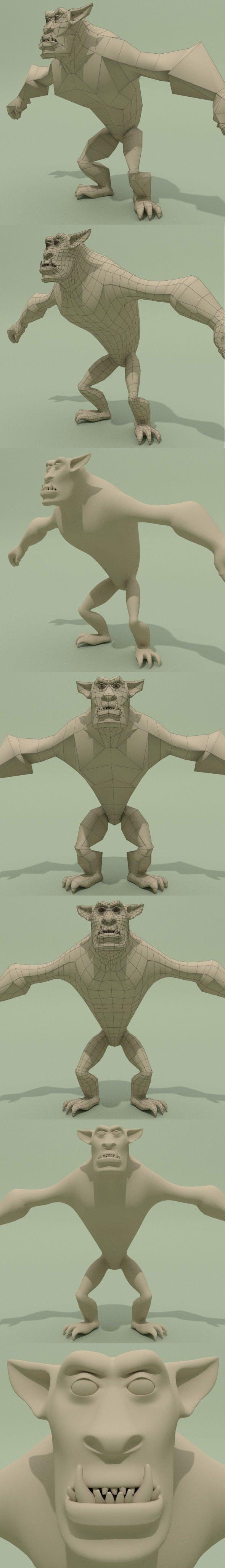 Monster Base Mesh - 3DOcean Item for Sale