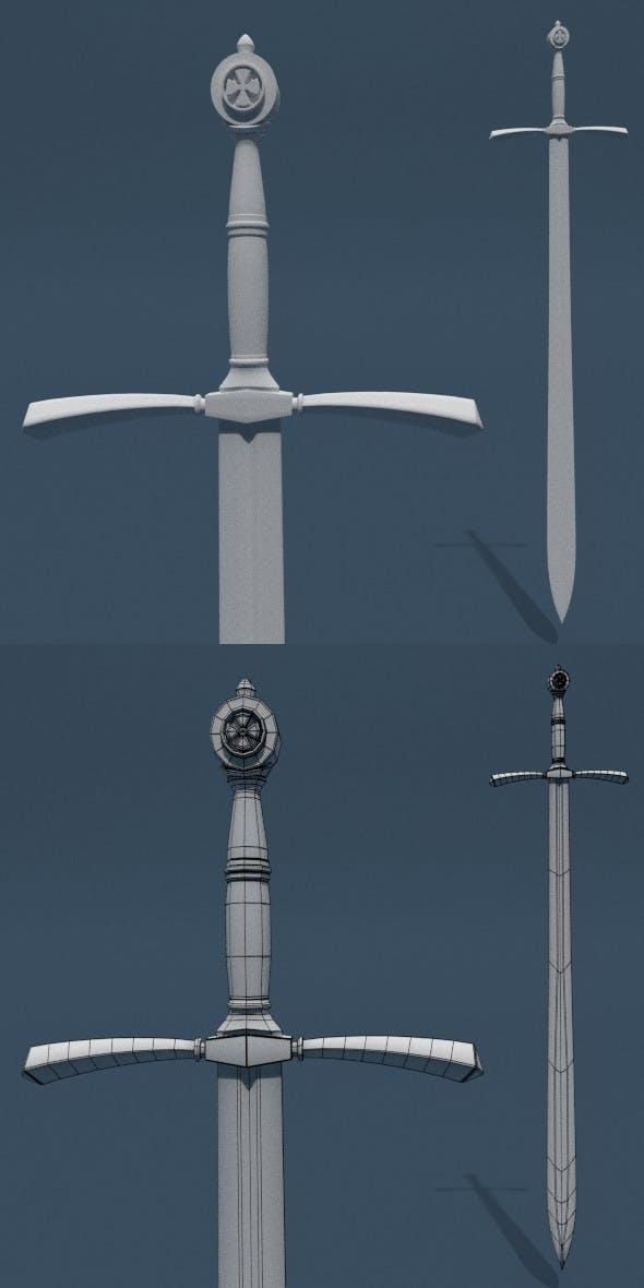 Sword Base Mesh (A) - 3DOcean Item for Sale
