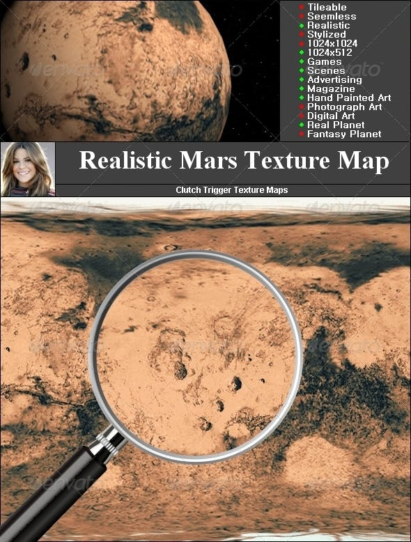 Mars Texture Map - 3DOcean Item for Sale