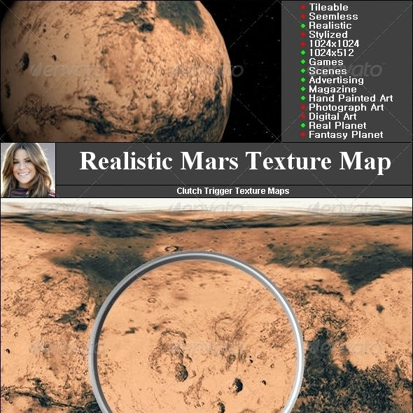 Mars Texture Map