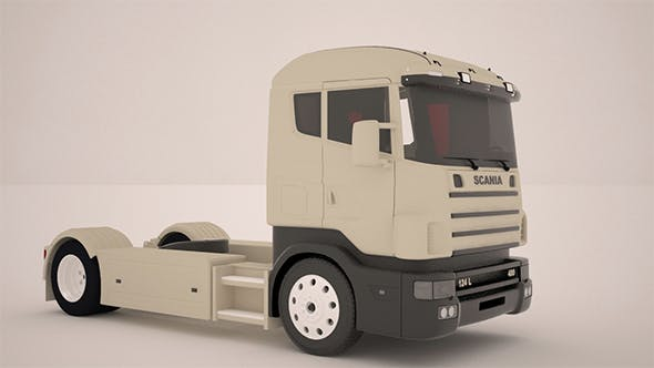 Scania Truck - 3DOcean Item for Sale