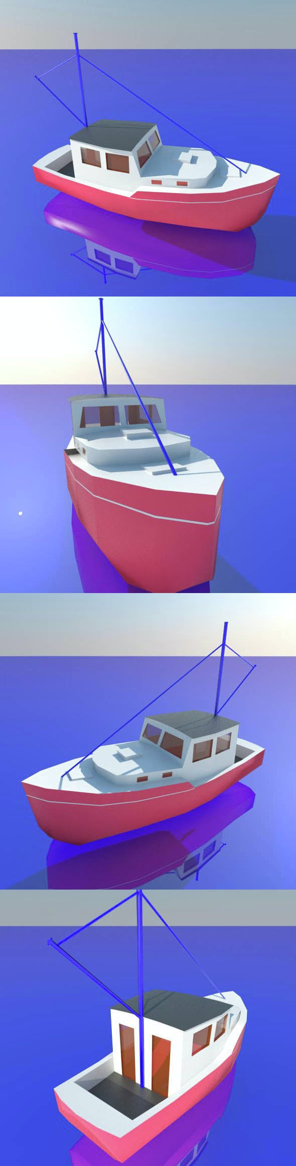 BOAT low poly - 3DOcean Item for Sale