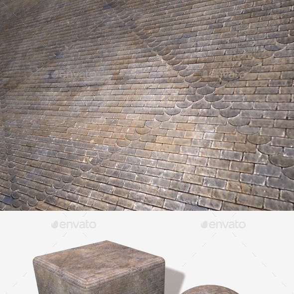 Patterned Roof Tiles Seamless Texture