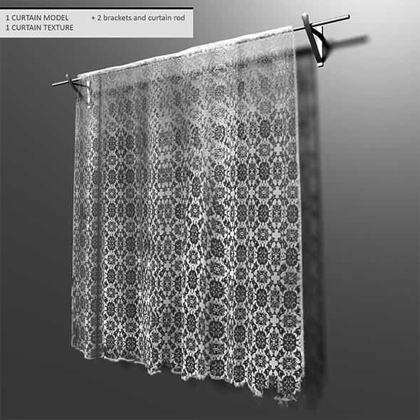 Old lace curtain - 3DOcean Item for Sale
