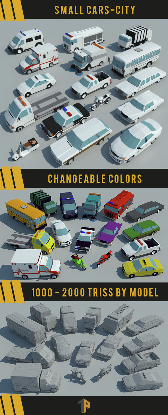 Small Cars - City - 3DOcean Item for Sale