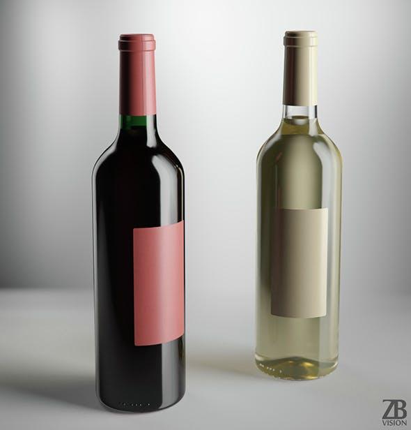 Wine Bottle - 3DOcean Item for Sale