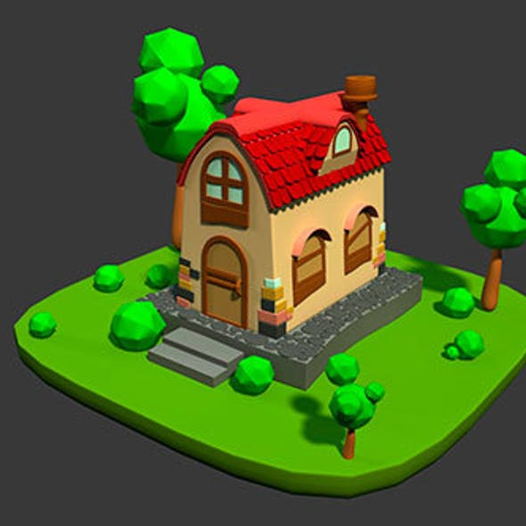 Home Cartoon 3D Model