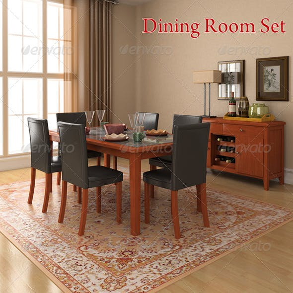 Dining Room 1 - 3DOcean Item for Sale