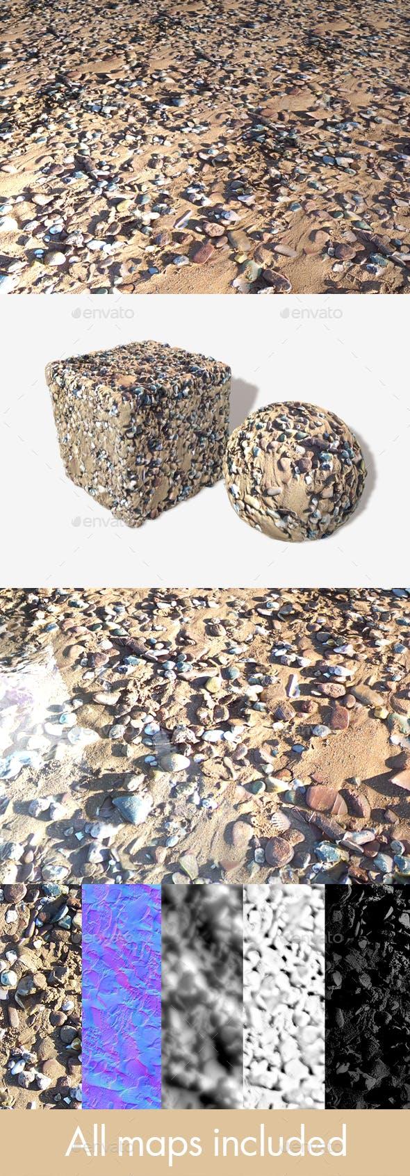 Stony Beach 02 Seamless Texture - 3DOcean Item for Sale