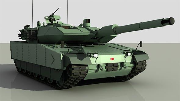 Turkish Main Battle Tank Altay - 3DOcean Item for Sale