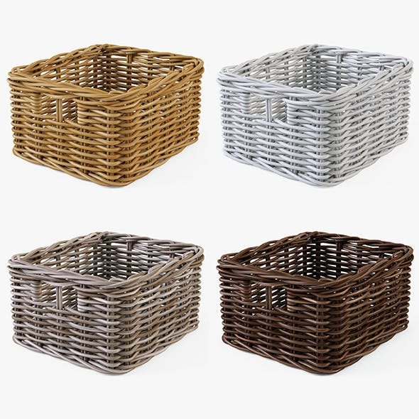 Wicker Basket Ikea Byholma 1 Set(4 Color)