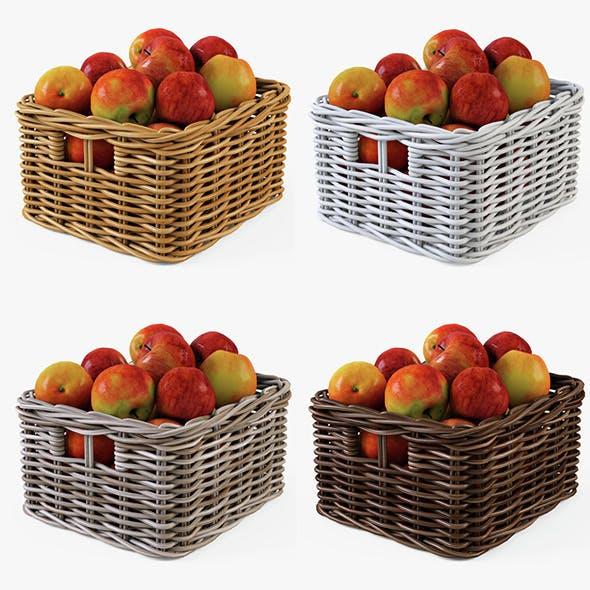 Wicker Apple Basket Ikea Byholma 1 Set(4 Color) - 3DOcean Item for Sale