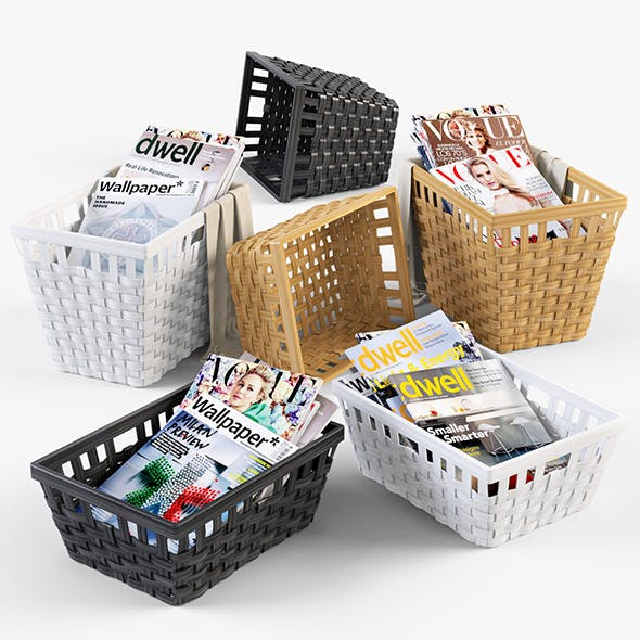 Wicker Basket Ikea Knarra - 3DOcean Item for Sale
