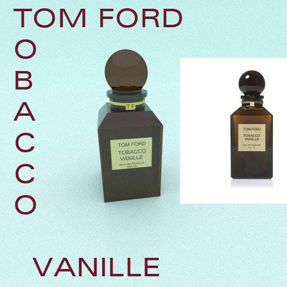 TOM FORD's glass perfume brown bottle
