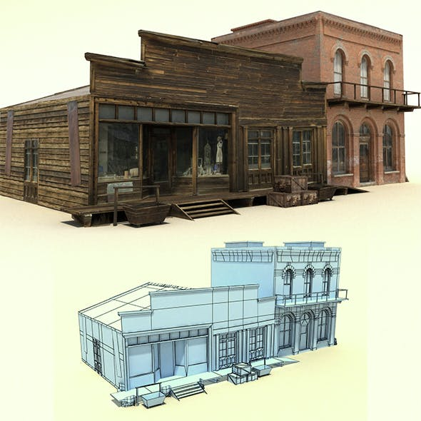 Low Poly Wild West Buildings
