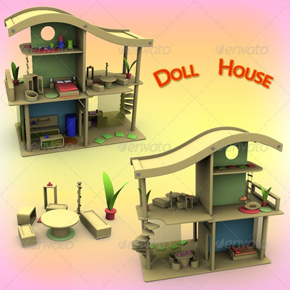 Doll House Set 02 - 3DOcean Item for Sale