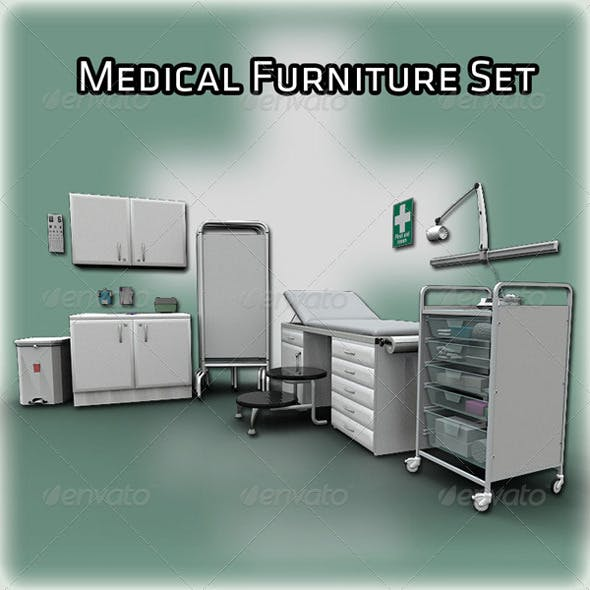 Medical furniture Set - 3DOcean Item for Sale