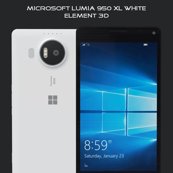 Element 3D Microsoft Lumia 950 XL White