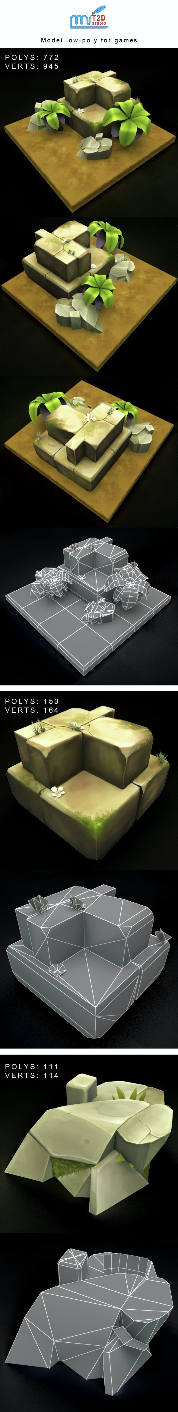 Models low-poly for webgame, mobile game or tvc - 3DOcean Item for Sale