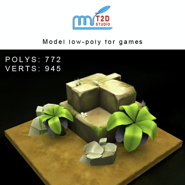 Models low-poly for webgame, mobile game or tvc