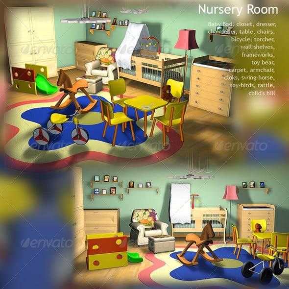 Nursery Room  - 3DOcean Item for Sale