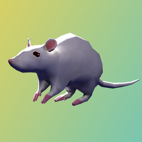 Low Poly Rigged Mouse