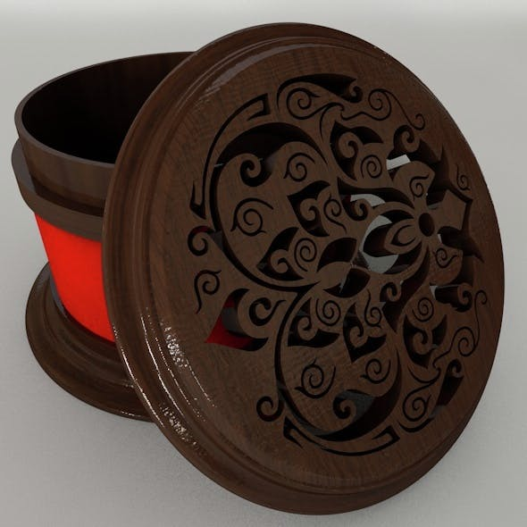 Rounded Jewelry Box - 3DOcean Item for Sale