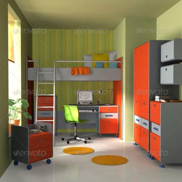Nursery room 3 - 3DOcean Item for Sale