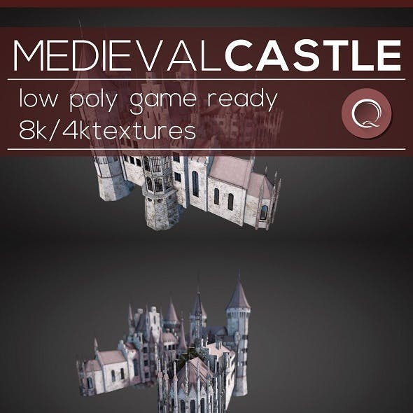Low Poly Medieval Castle - Models Pack
