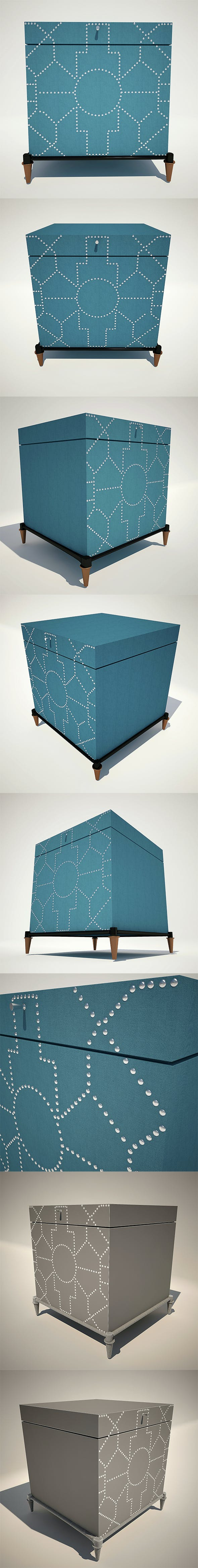 Trunk Blue Crackle - 3DOcean Item for Sale