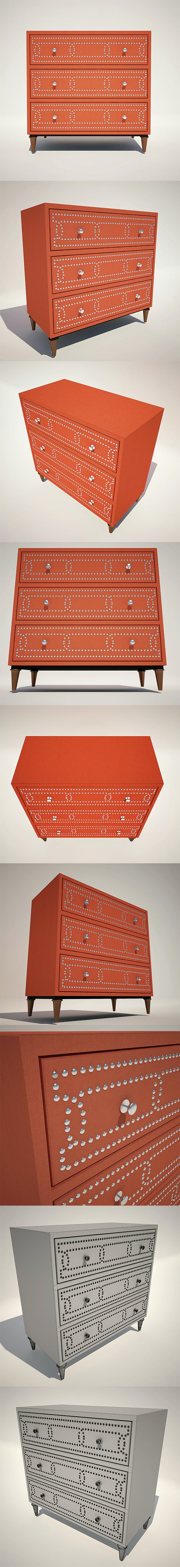 Dresser Sunrise 3 Drw - 3DOcean Item for Sale