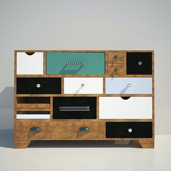 Commode Kare Dresser Malibu Eu 14-Drawer