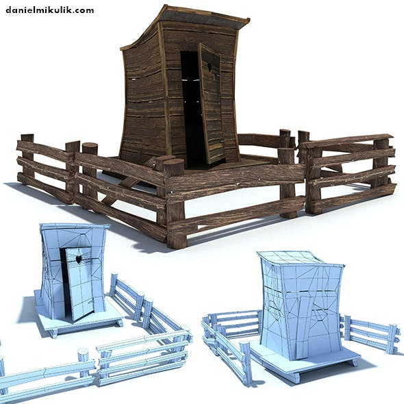 Low Poly Wild West Toilet