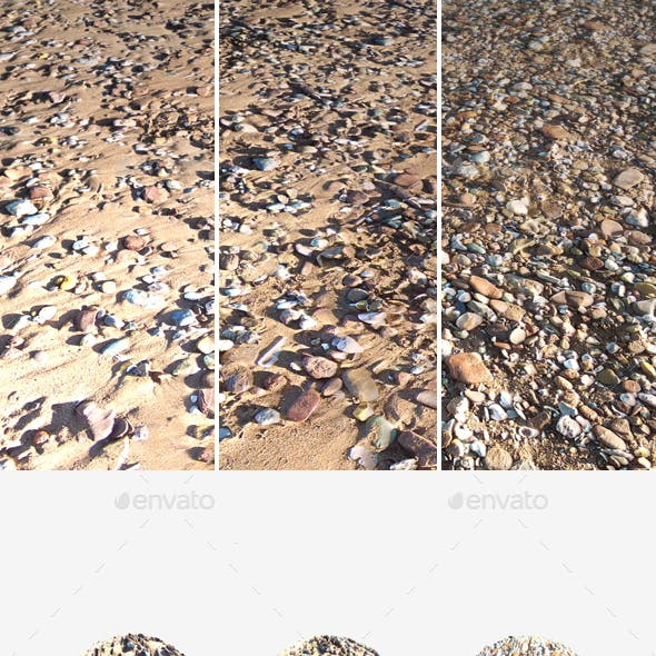 3 Sandy Beach Seamless Textures