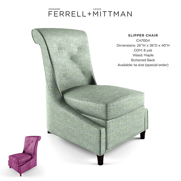 Lewis Mittman Slipper Chair - 3DOcean Item for Sale