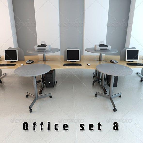 Office Set p08 3D Model - 3DOcean Item for Sale