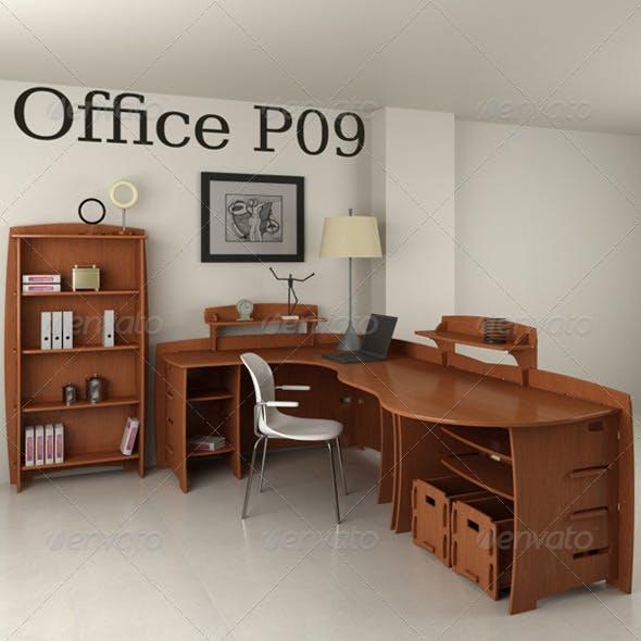 Office Furniture Set p09 3d model