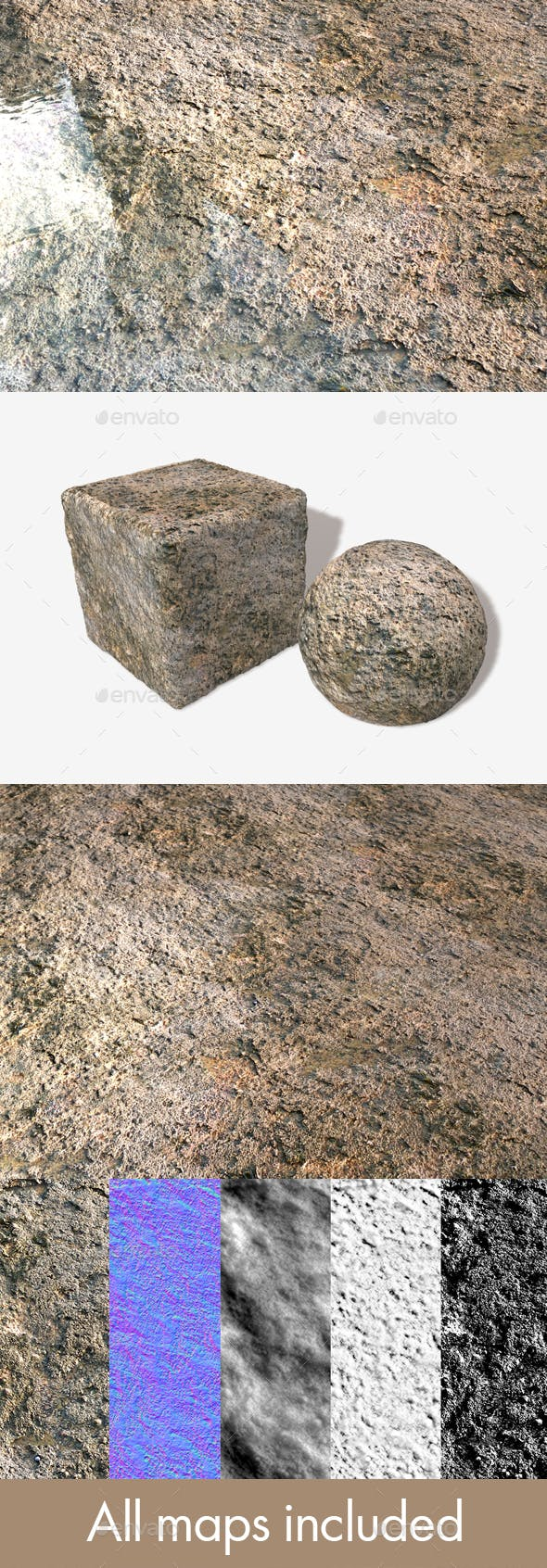 Grimy Sea Rock Seamless Texture - 3DOcean Item for Sale