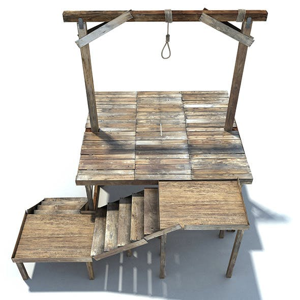 Low Poly Wild West Gallow - 3DOcean Item for Sale