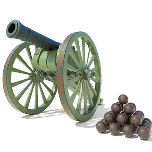 Highpoly Model of Retro Cannon