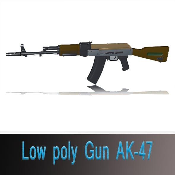 Low poly Gun AK-47 - 3DOcean Item for Sale