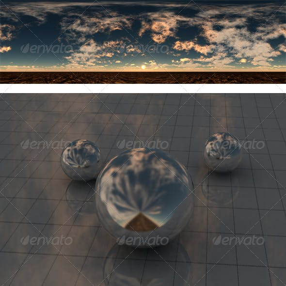 Cloudy sunset - 3DOcean Item for Sale