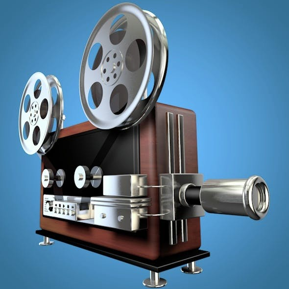 Old Movie Projector - 3DOcean Item for Sale
