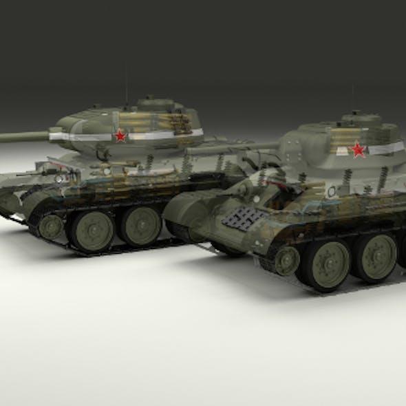 T-34 76/85 Tanks w Interior