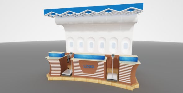 Ticket counter - 3DOcean Item for Sale