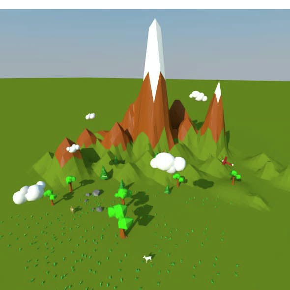 Low Poly Landscape scene