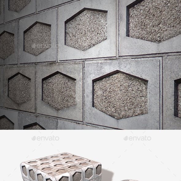 Hexagon Tile Industrial Wall Seamless Texture